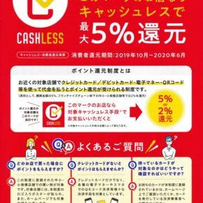 キャッシュレス5%還元&ランチでクーポン&福島市プレミアム商品券のお知らせ。
